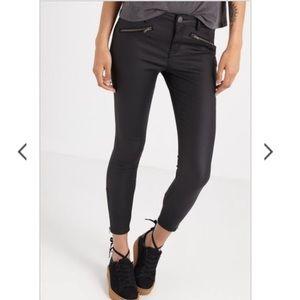 Cotton On Black Coated Skinny Moto Pants - Size 2